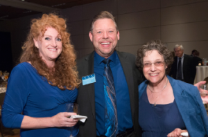 Left to Right: Lynette Vedder, Individual Member of the Year Joe Siecinski and Maxine Brookner.