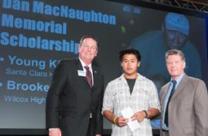 Dan MacNaughton Memorial Scholarship presented to Young Kim of Santa Clara High School.