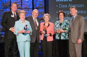 Don Von Raesfeld Chamber Volunteer Award (left to right): Steve Van Dorn, Marlene Ybarra, Don Von Raesfeld, Marge Banko, Dee Alarcon and Dave Tobkin.