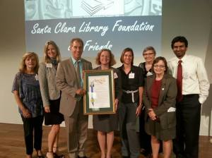 Non-Profit of the Year introduced by Santa Clara Councilmember Teresa O'Neill at SanDisk.